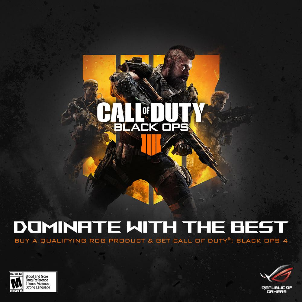 A ROG kínálja először csomagban a Call of Duty®  Black Ops 4 digitális  PC-játékot 781cbae536